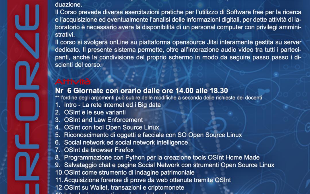 Open Source Intelligence Livello Base